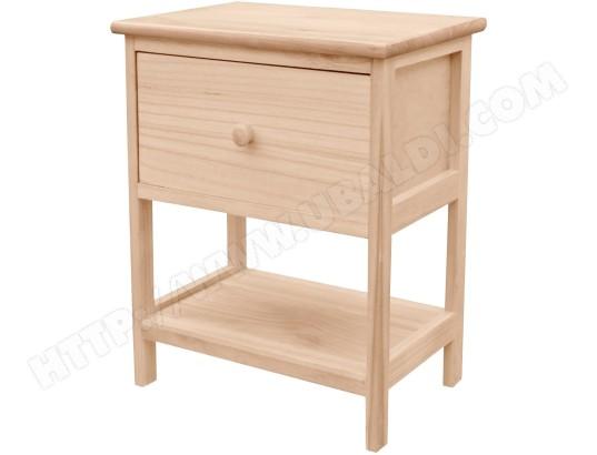 table de chevet 1 tiroir bois collection wood nature loft brut promobo ma 80ca494tabl nu3y7 pas. Black Bedroom Furniture Sets. Home Design Ideas