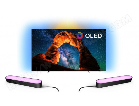 TV OLED 4K 164 cm PHILIPS Pack 65OLED803 + Philips Hue Play