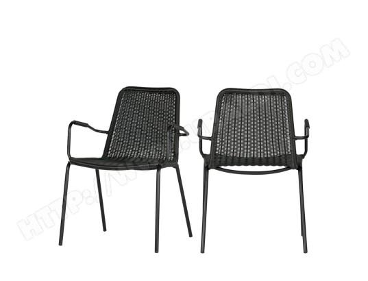 DRAWER jardin Wander MA chaises de 2 Noir Couleur BdrxCeo