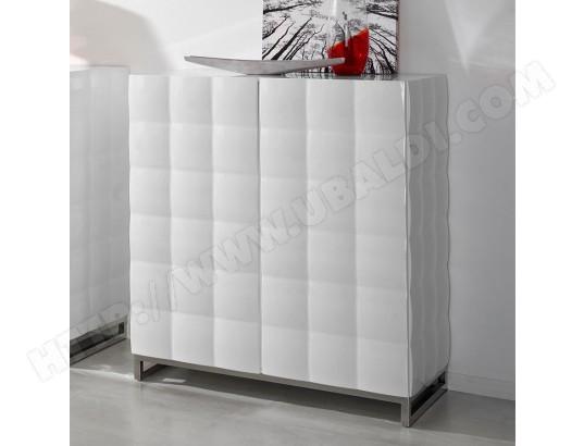 Buffet Haut Blanc Laqué 2 Portes Design Avery Sofamobili Arg