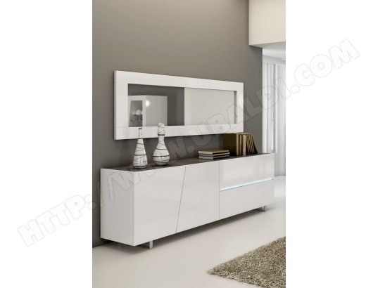 Buffet Bahut Blanc Laqué Design Joshua Sofamobili Bah D 018