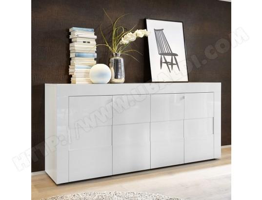 Bahut Blanc Laque Brillant Design Okland Sofamobili Bah D