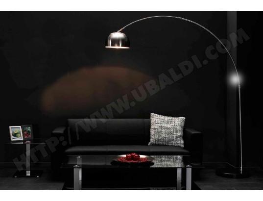 Lampadaire Design En Arc Abat Jour En Inox Demi Sofamobili