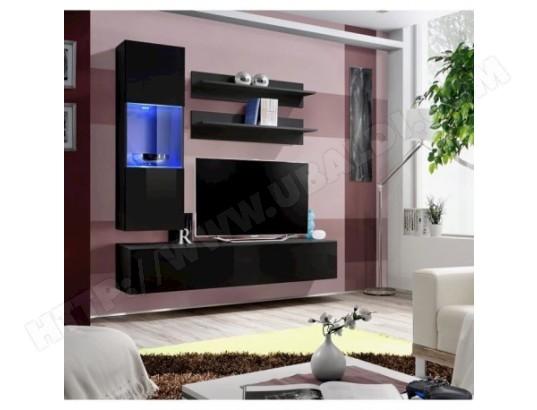 Meuble Tv Fly H3 Design Coloris Noir Brillant Meuble