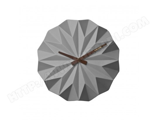 horloge murale scandinave origami diam 27 cm gris. Black Bedroom Furniture Sets. Home Design Ideas