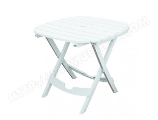 Table de jardin blanche - Pliable - Lot sans chaises - lot ...