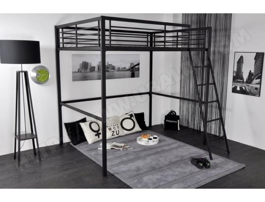 lit mezzanine ub design grafik 140x190 pas cher. Black Bedroom Furniture Sets. Home Design Ideas