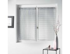 Taupe Douceur dInt/érieur Horizon Paire Droite Passants Voile Raye Horizon Polyester 90x60 cm