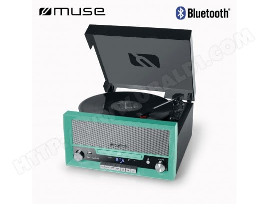 Platine Vinyle Bluetooth, Muse [MT-110 GR] [Vintage Collection] - Vert MUSE 5030
