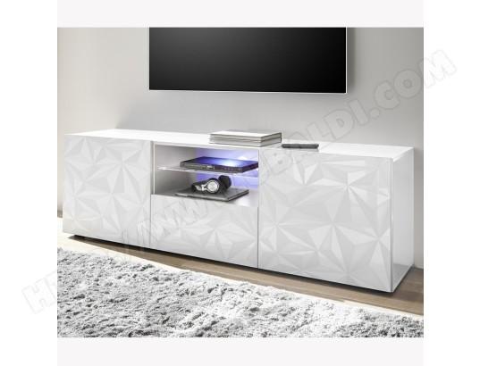 vente en magasin 61894 08f0e Meuble TV 180 cm design blanc laqué ANTONIO SOFAMOBILI MA ...
