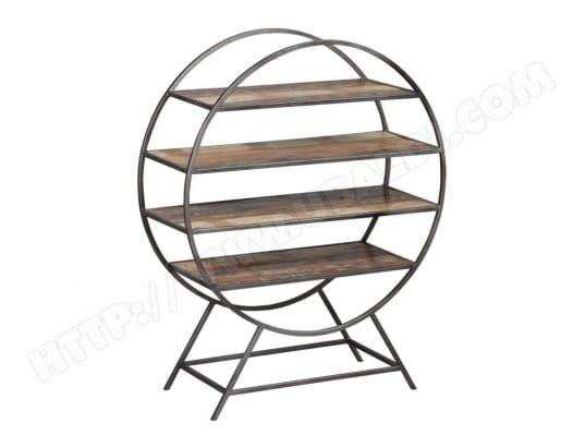 tag re m tal bois ronde knox l 93 x l 36 x h 115 tousmesmeubles 11336 11151 pas cher. Black Bedroom Furniture Sets. Home Design Ideas