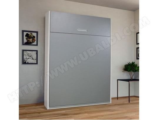 armoire lit escamotable 2 personnes wally l 165 x l 45. Black Bedroom Furniture Sets. Home Design Ideas