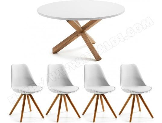 Ensemble Table Et Chaises Lf Table Nori 135 Cm 4 Chaises