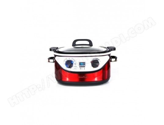 KITCHEN COOK - COOKOTTERED - Multicuiseur 8 en 1 - 5,6L - 1350W - 120-220?C - Inox Rouge KITCHEN COOK MA-32CA439KITC-9CDAA