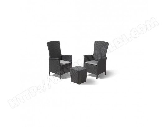 ALLIBERT Salon de jardin VERMONT 2 places - fauteuils ...