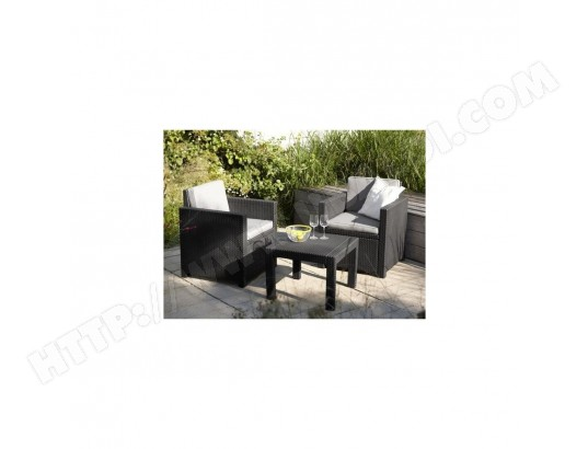 ALLIBERT Salon de jardin VICTORIA 2 places imitation resine ...