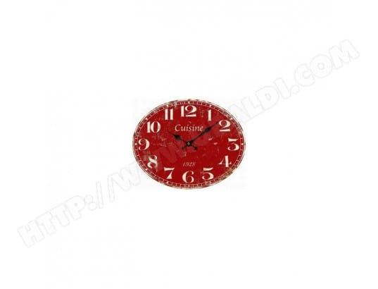 Pendule cuisine rouge antic line creations ma 21ca229pend owdmh pas cher for Pendule cuisine rouge
