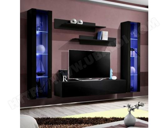 Meuble Tv Avec Rangement Noir Janina Nouvomeuble Ma 82ca487meub Li8kt Pas Cher Ubaldi Com