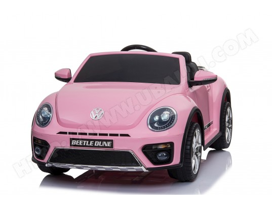 Véhicule électrique VOLKSWAGEN NEW BEETLE rose FAST AND BABY MA-88CA398VEHI-TME3T