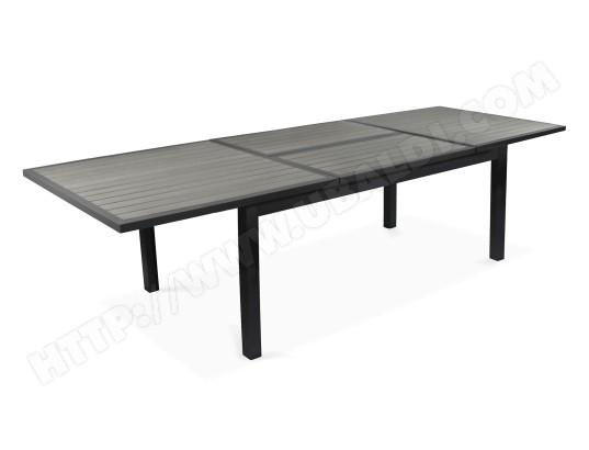 Table de jardin extensible rallonge papillon aluminium ...