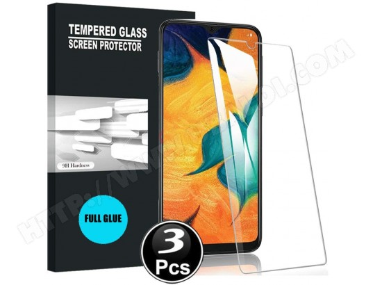 Samsung Galaxy A40 Vitre protection d'ecran en verre trempé incassable lot de [X3] Glass AUCUNE MA-31CA500SAMS-RIHTI