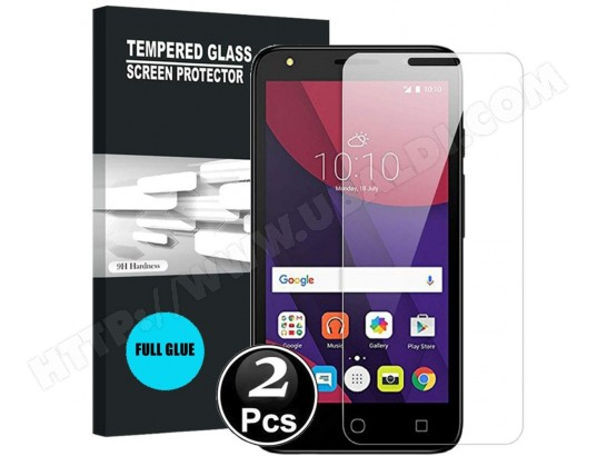 Alcatel 1 2019 Vitre protection d'ecran en verre trempé incassable lot de [X2] Glass AUCUNE MA-31CA500ALCA-98PCX