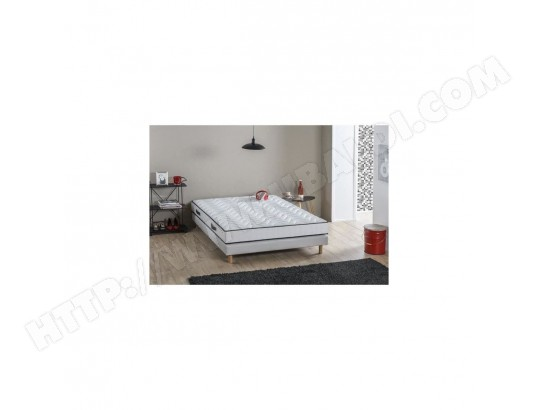 DEKO DREAM Ensemble matelas + sommier 90x190 cm - Latex - 15 cm - 5 zones - Ferme - ERGOFRESH DEKO DREAM MA-36CA89_DEKO-D636Q