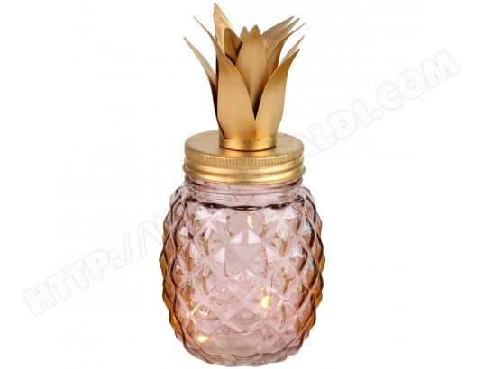 À Piles Ma 5 Led Rose M0nny8ovw Ananas Fonctionne Design Lampe Promobo y6gY7bf