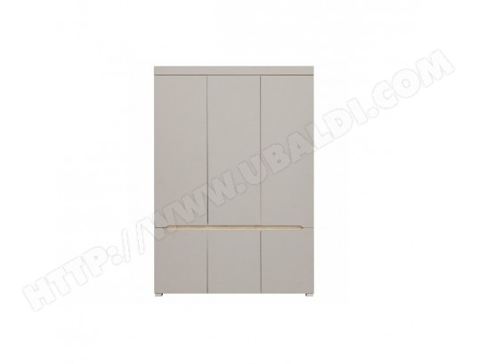 Armoire design 6 portes avec penderie et miroir WILLY ...