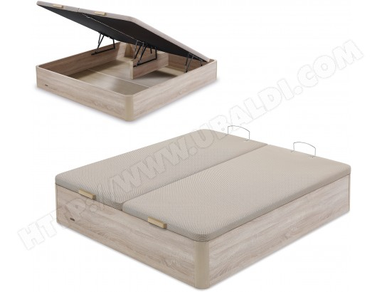 flex sommier 160 x 200 lit coffre flex 160x200cm naturel