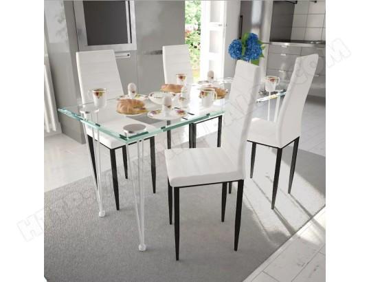 ICAVERNE Icaverne Chaises de cuisine et de salle à manger Moderne Chaise de salle à manger 4 pcs Design fin Blanc ICAV241499