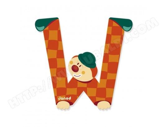 lettre d corative clown en bois w janod ma 83ca187lett sldkj pas cher. Black Bedroom Furniture Sets. Home Design Ideas