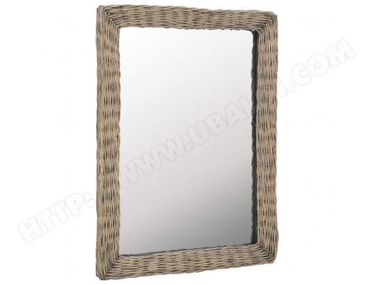 Icaverne - Miroirs Inedit Miroir Osier Marron 60 x 80 cm ICAVERNE MA-15CA123ICAV-33QIE