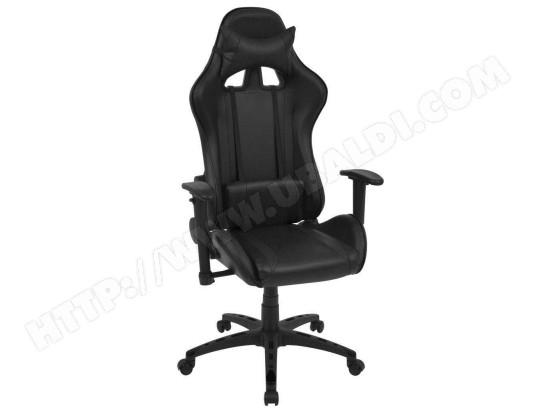 HELLOSHOP26 Fauteuil chaise chaise de bureau inclinable cuir artificiel noir 0502035 MA 18CA493FAUT 888ZR