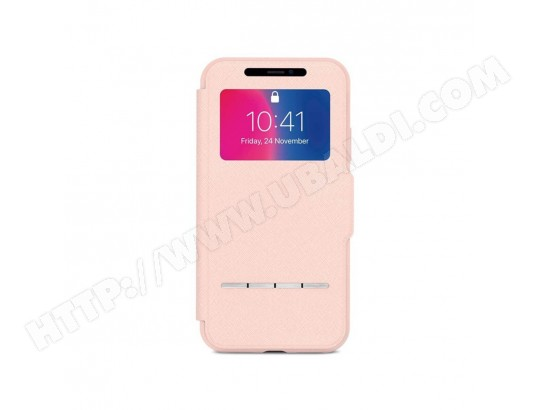 Coque avec rabat frontal tactile - iPhone X - SENSECOVER MOSHI 1150_2209