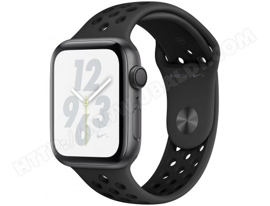 Apple Watch Series 4 GPS boîtier en aluminium gris sidéral de 44mm avec Bracelet Sport Nike Anthracite/noir APPLE MA-17CA496APPL-IY7HA