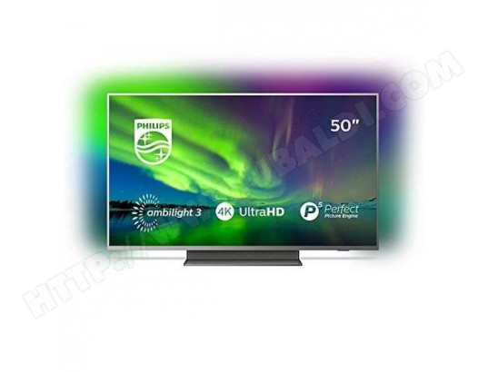 TV INTELLIGENTE PHILIPS 50PUS7504 50 4K ULTRA HD LED WIFI AMBILIGHT GRIS PHILIPS S0422954
