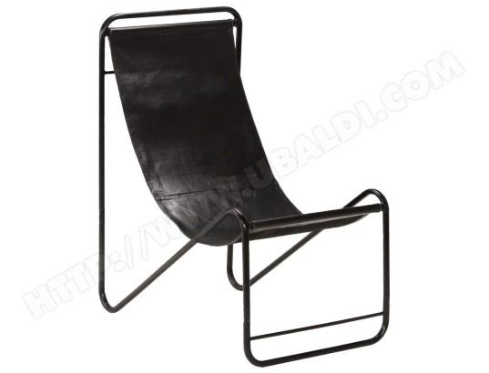HELLOSHOP26 Fauteuil chaise siège lounge design club sofa salon de relaxation cuir véritable noir 1102339 MA 18CA92_FAUT RHW5Z