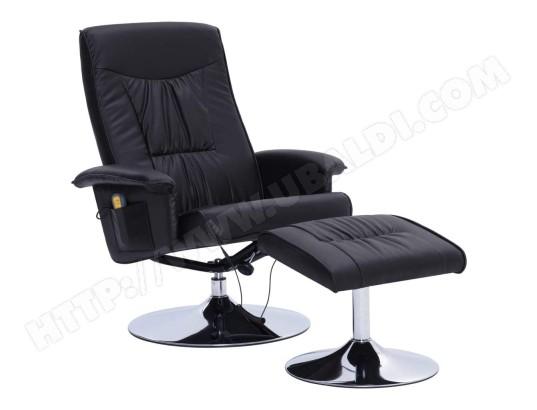 HELLOSHOP26 Fauteuil de massage confort relaxant massant détente avec repose pieds noir similicuir 1702051 MA 18CA144FAUT RS4QO