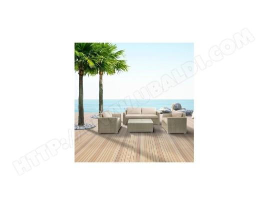 Salon de Jardin - 1 canape 3 places + 2 fauteuils + 1 table ...