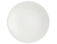 Secret de Gourmet Lot de 6 Assiettes PlatesDiamant 27cm Blanc