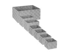 Panier de Rangement Feutrine 36cm Gris Fonc/é Five Simply Smart