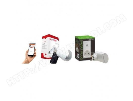 NEW DEAL PACK DE PRISE CONNECTÉE WIFI SPECO+ ET AMPOULE MUSICALE ZICLE NEW DEAL MA-40CA424NEWD-NUEEQ