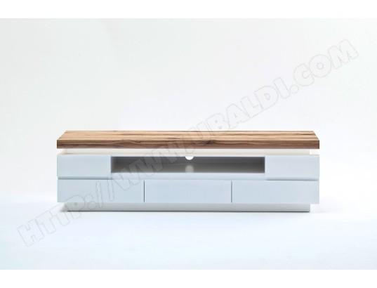 Meuble Tv Avec Led Et 5 Tiroirs Coloris Laque Blanc Mat L175 X H40 X P49 Cm Pegane Pegane Ma 82ca487meub Jjv4f Pas Cher Ubaldi Com