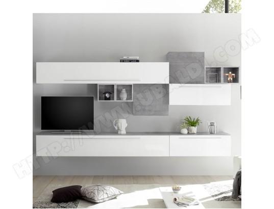 Ensemble Meuble Tv Mural Blanc Et Gris Clair Vasto Nouvomeuble Ma 82ca487ense Ztig2 Pas Cher Ubaldi Com