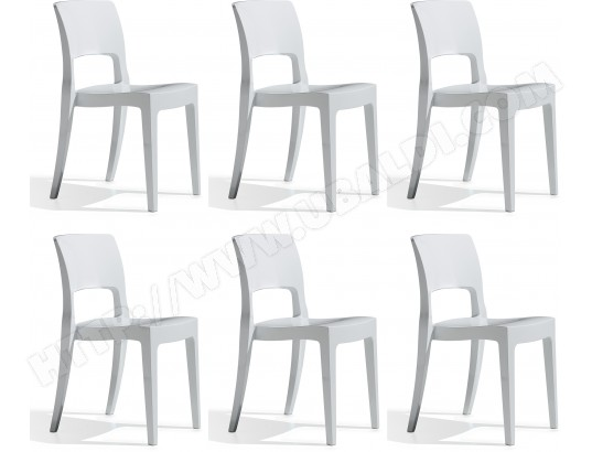 Chaise SCAB DESIGN Lot de 6 chaises Isy blanc