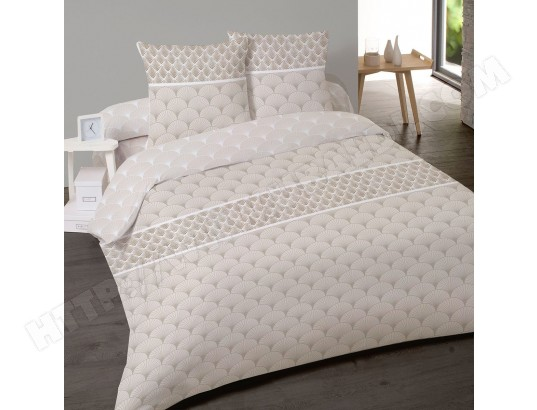 Housse de couette 220x240 + 2 taies Tiffany coton 57 fils NO NAME MA-22CA143HOUS-N5DKM