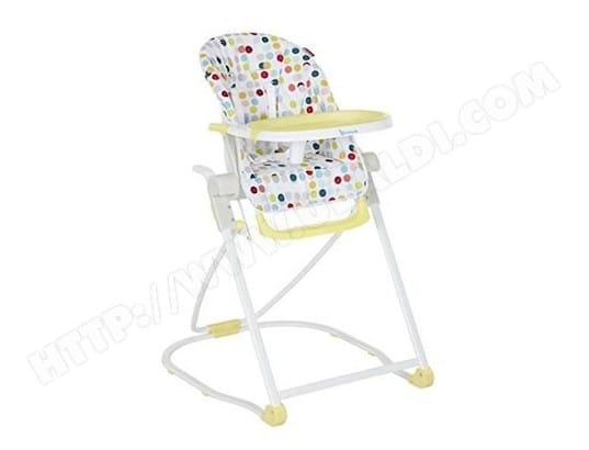 badabulle chaise haute compacte confetti jaune b010701 badabulle ma 41ca318bada truxi pas cher. Black Bedroom Furniture Sets. Home Design Ideas