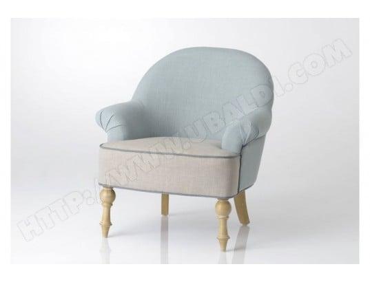 Fauteuil De Salon Bleu Et Beige Hellin Ma 54ca92 Faut 7o2lm