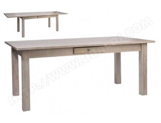 table rectangulaire a rallonges hellin ma 54ca492tabl hmsr0 pas cher. Black Bedroom Furniture Sets. Home Design Ideas